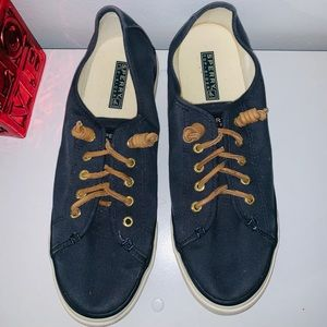 SPERRY LACE UP CANVAS NAVI BLUE 9 1/2